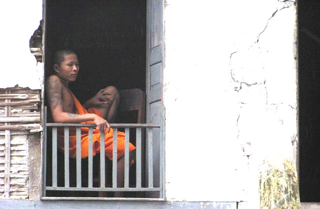 monk in window