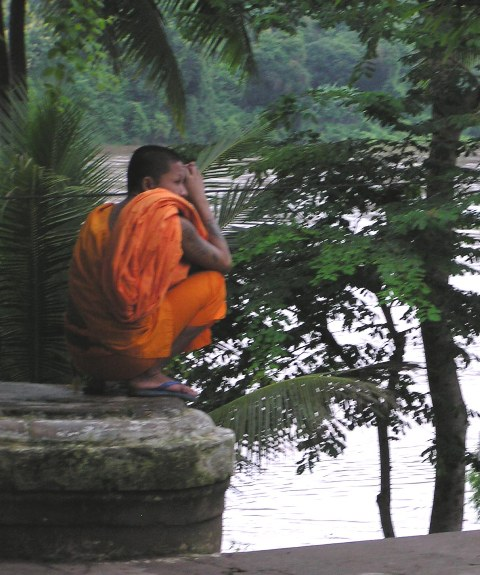 Monk at Mekong